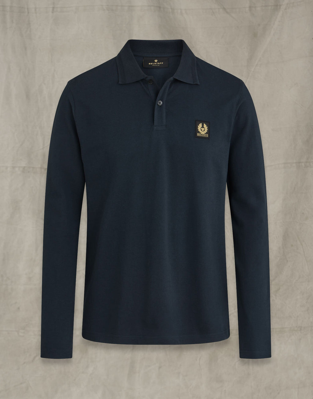 Belstaff Navy Long Sleeve Polo