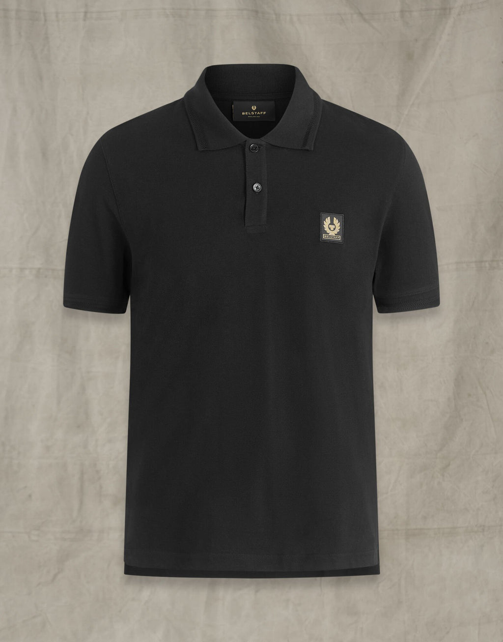 Belstaff Black Short Sleeve Polo