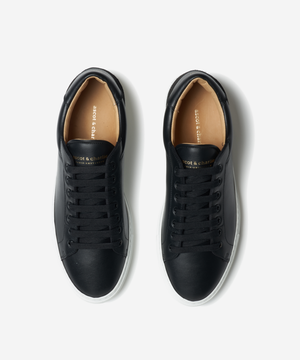 Lione Black Leather Sneakers