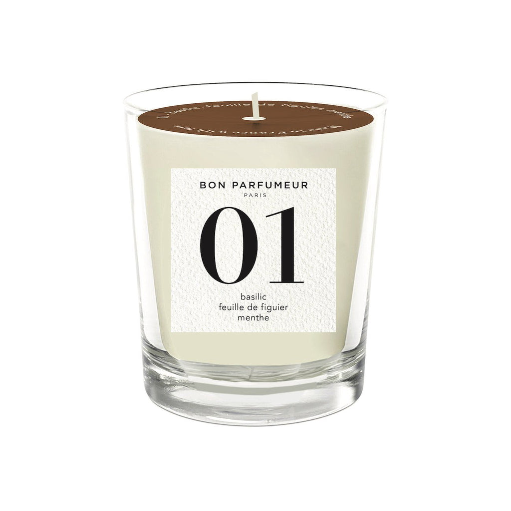 Candle 01: basil, fig leaves, mint