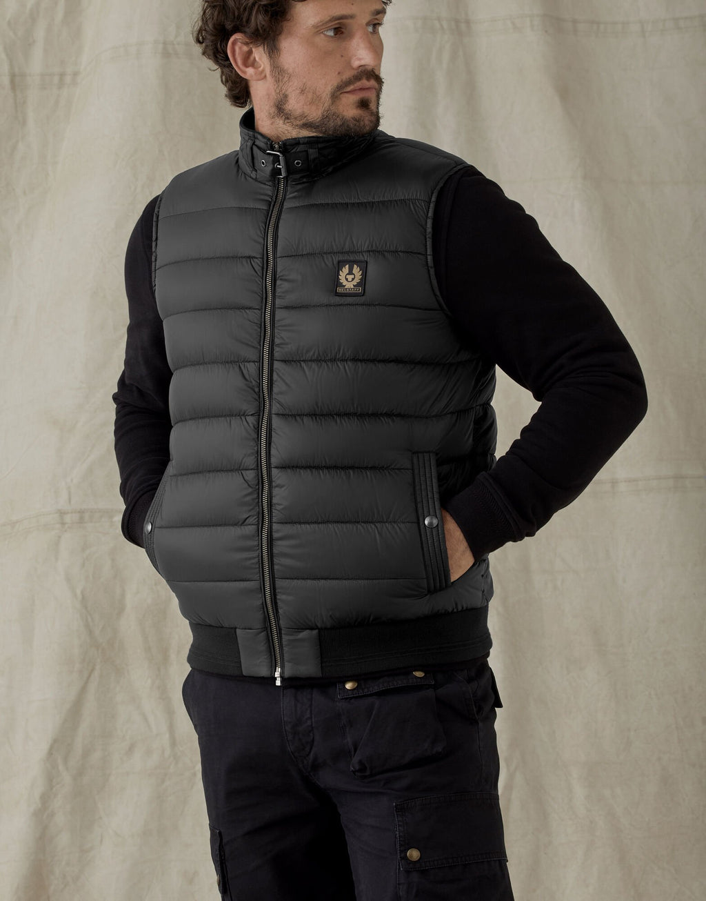 Circuit Black Quilted Gilet