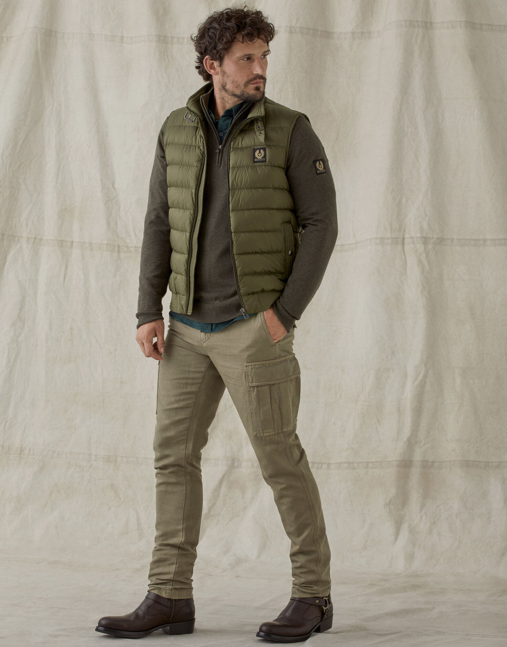 Circuit Salvia Green Quilted Gilet