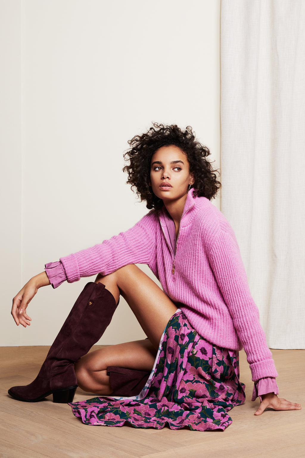 Isa Plum Pink Pullover