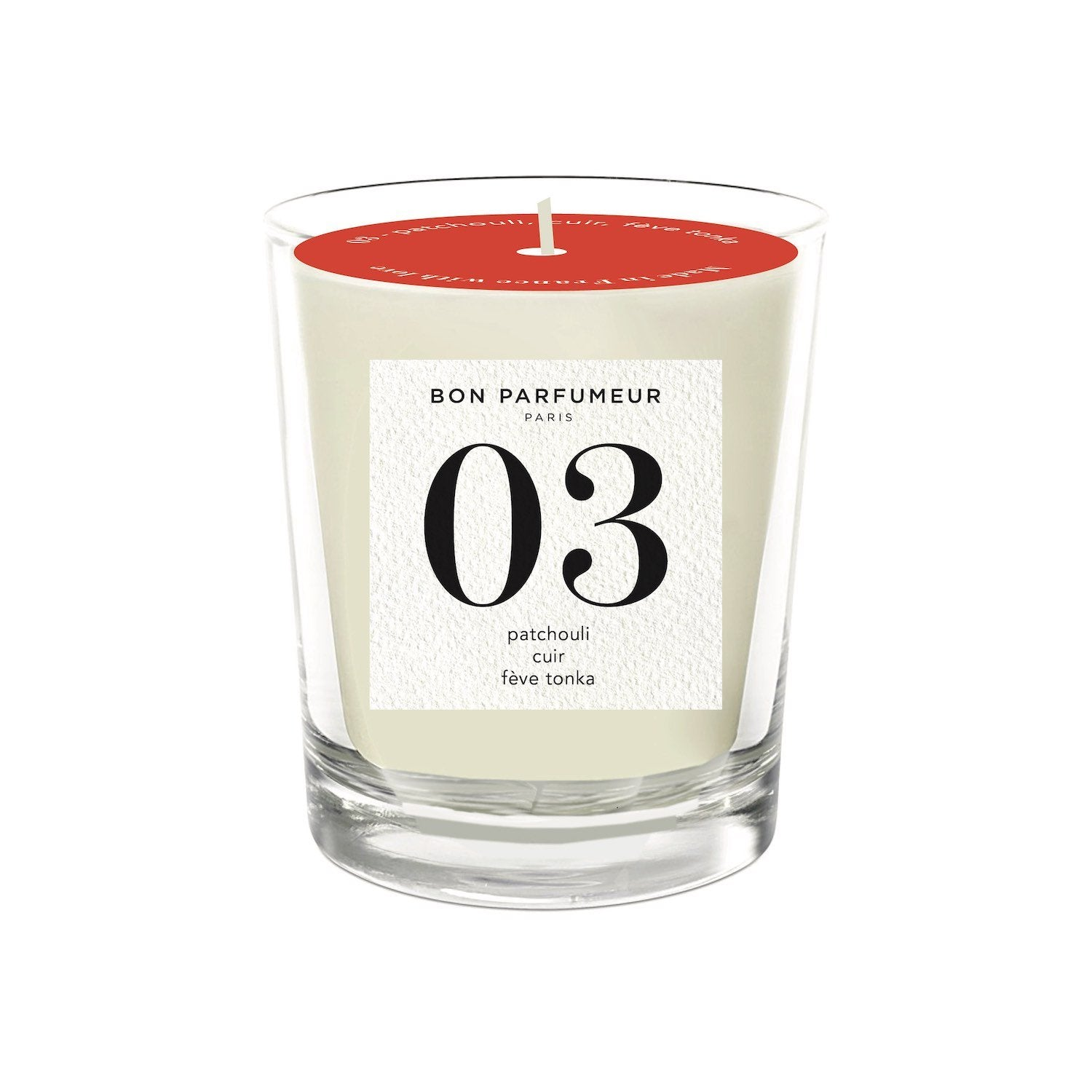 Candle 03: patchouli, leather, Tonka bean