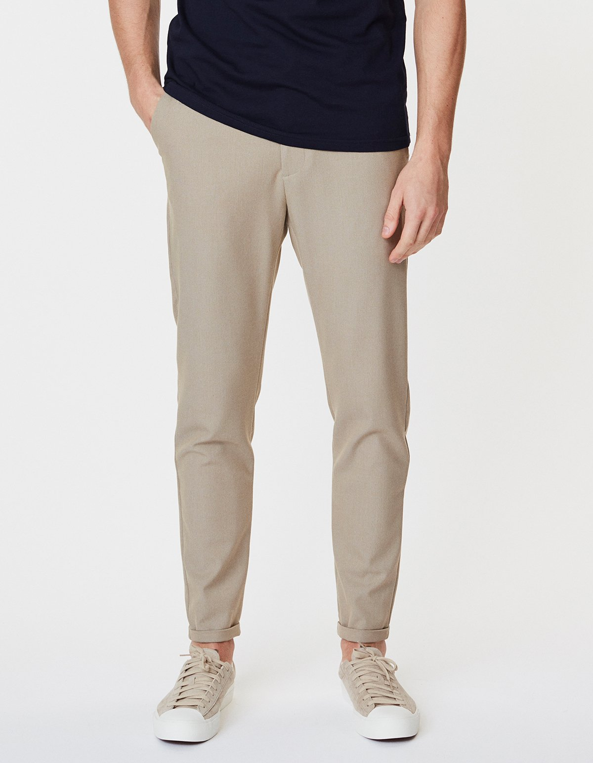 Como Light Sand Stretch Suit Pants