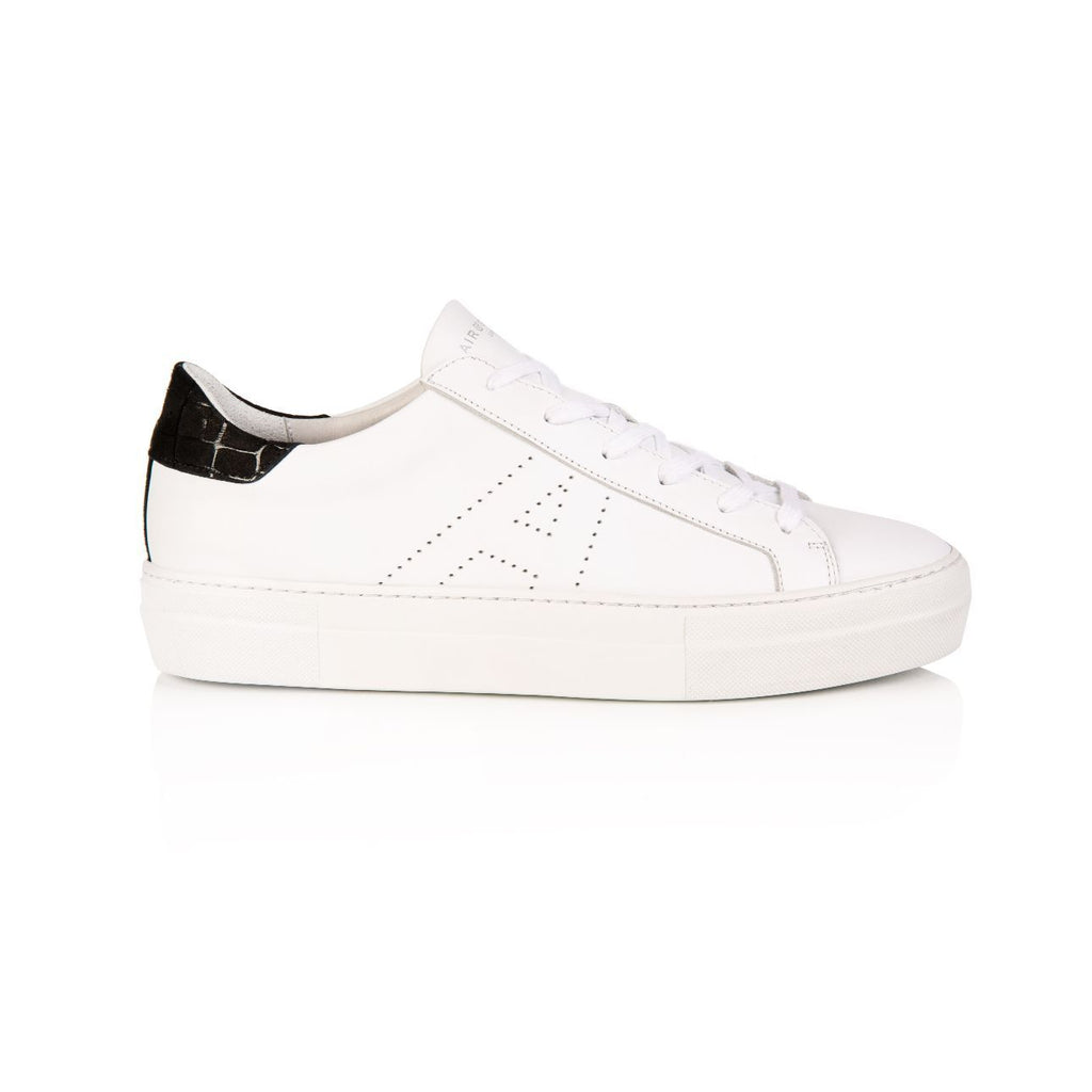 Roxy White & Black Platform Trainer