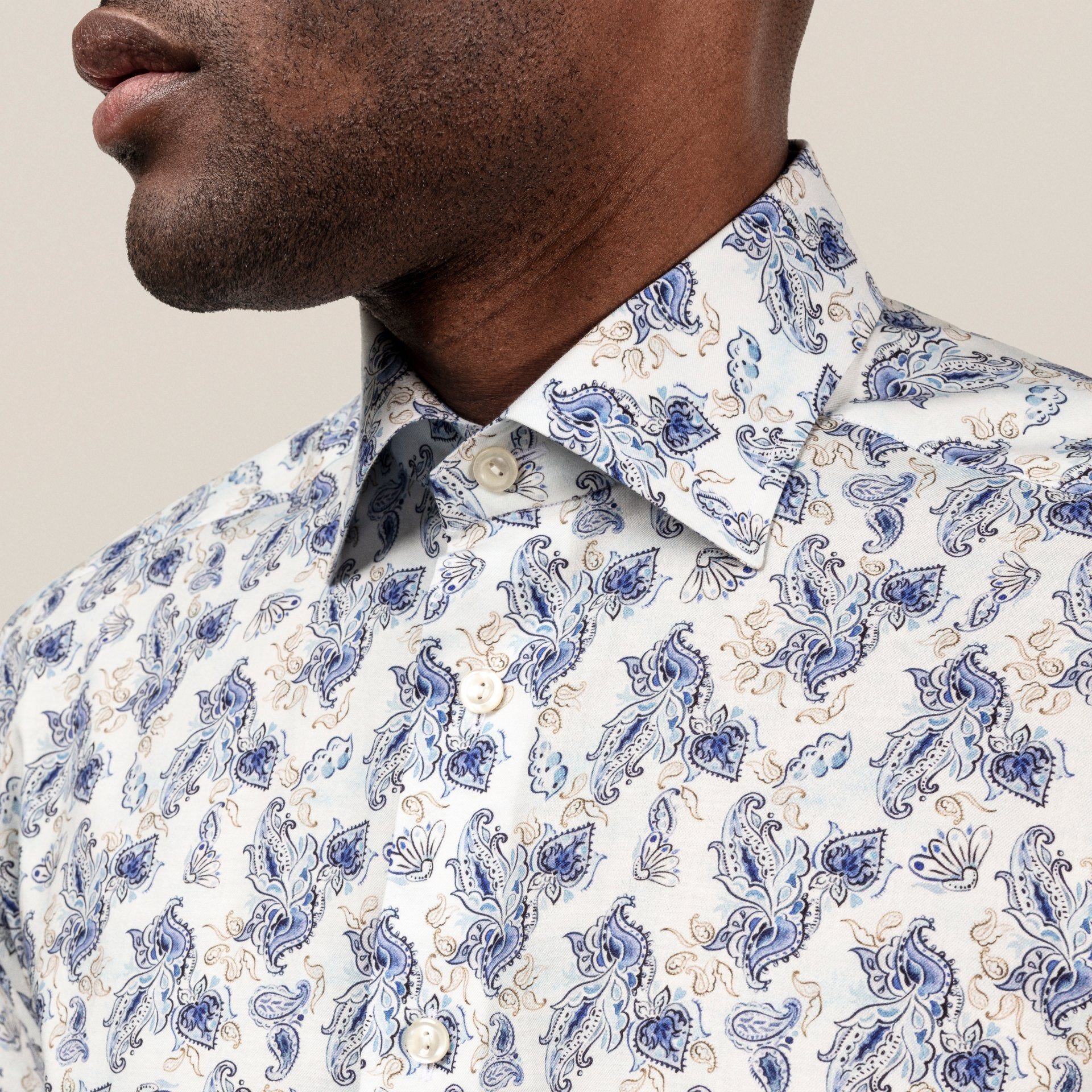Watercolour Paisley Lightweight Flannel Shirt