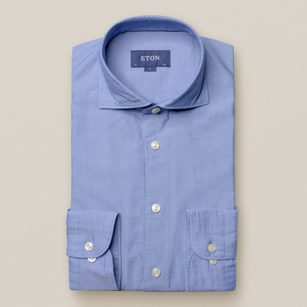 Blue Soft Twill Shirt