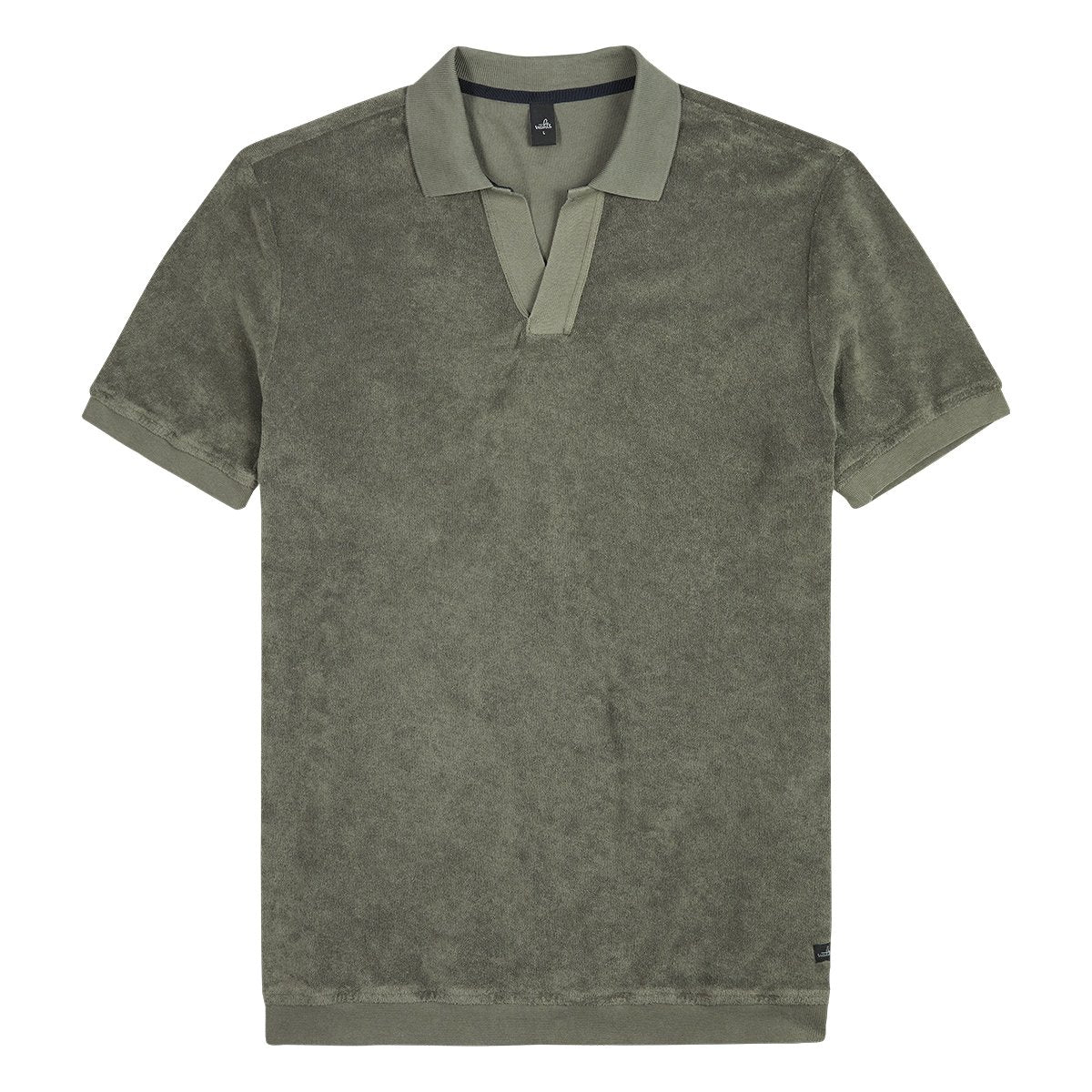 Hicks Army Green Towelling Polo