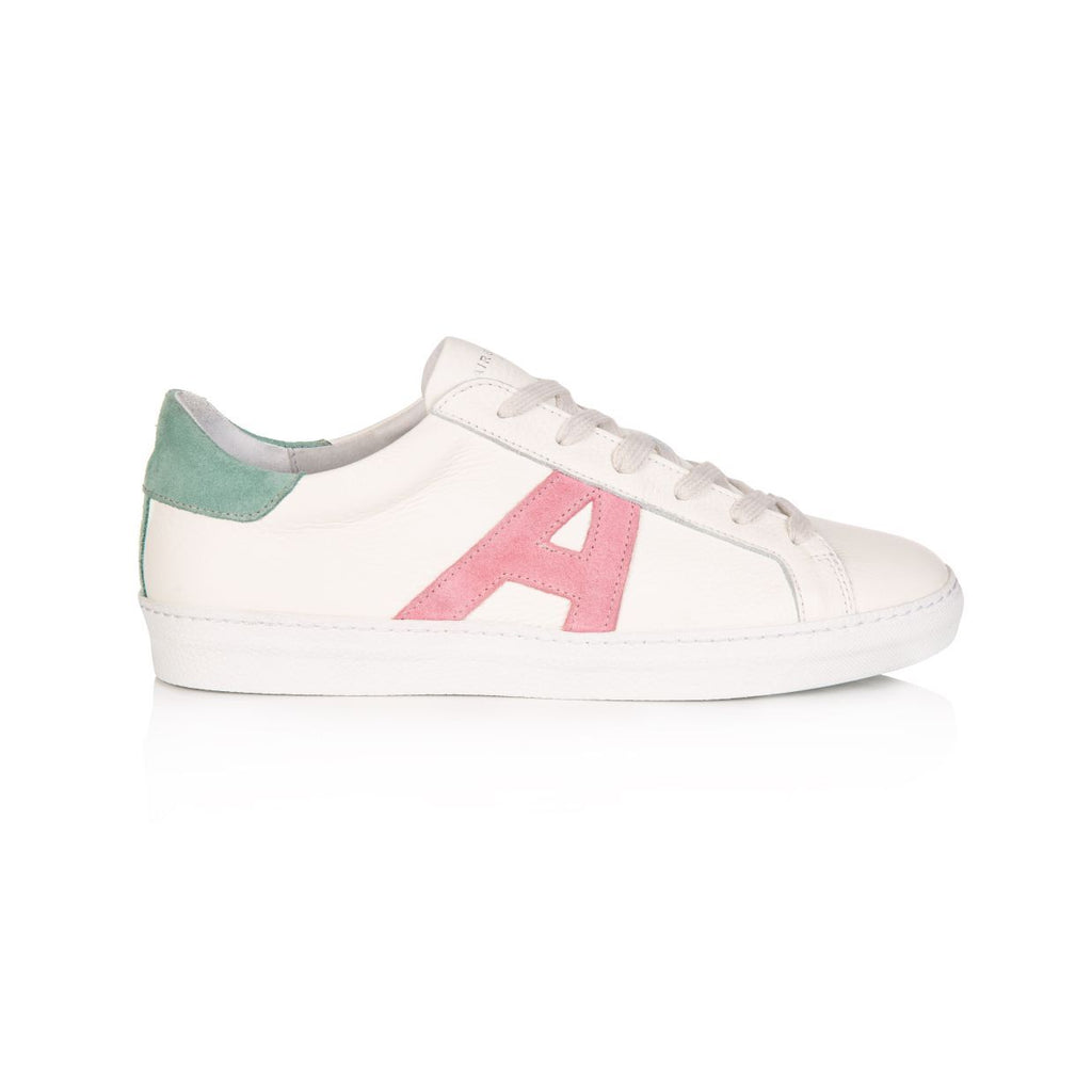 Cru Signature White & Pastel Trainer