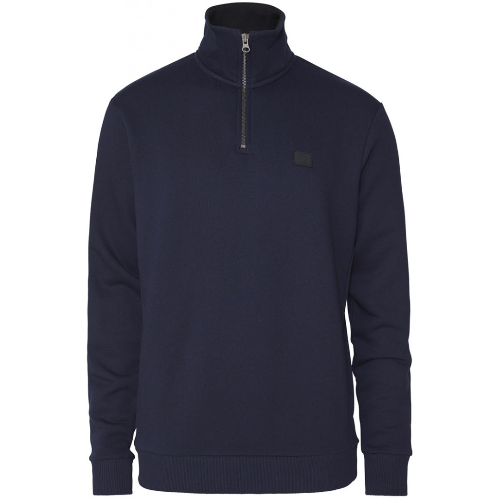 Clinton Navy Half Zip Sweatshirt