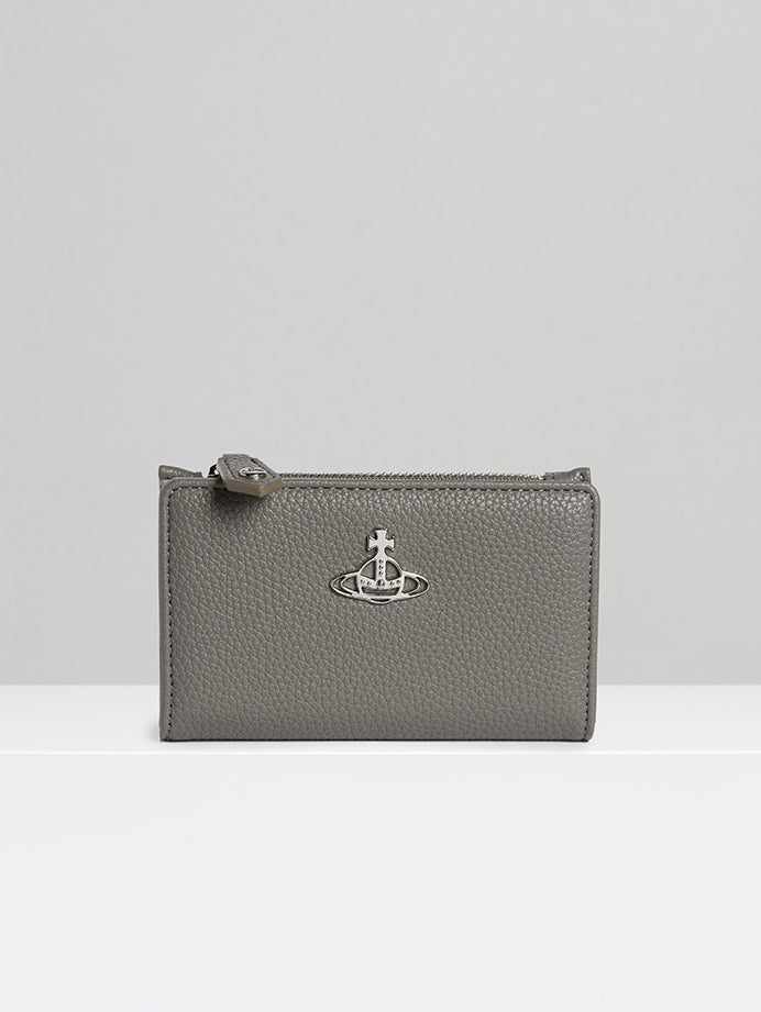 Johanna Slim Flap Card Holder Grey