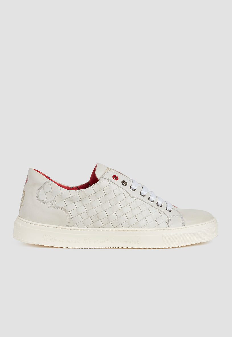 Jeffery West Weave Polar Leather Sneaker