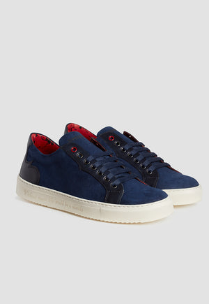 Jeffery West Suede Navy Sneaker