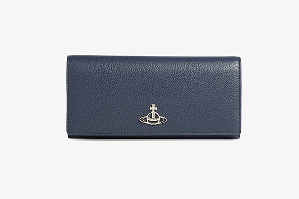Windsor Navy Long Card Wallet