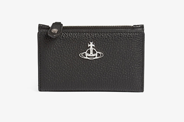 Rachel Slim Flap Card Holder Black