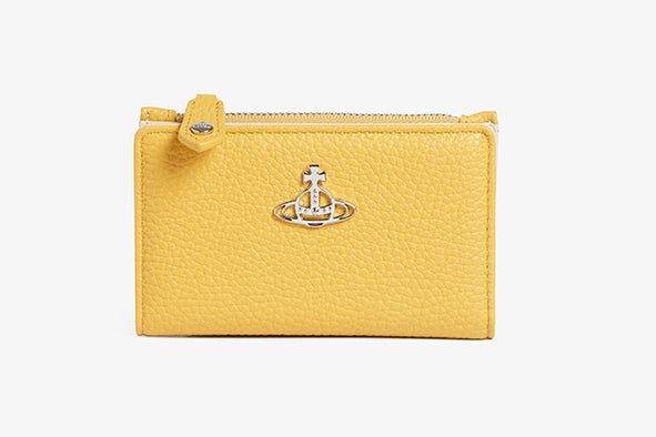 Rachel Slim Flap Card Holder Yellow