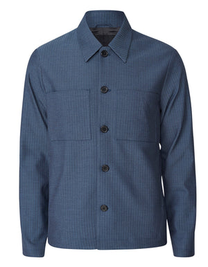 Marseille Dark Navy Herringbone Jacket