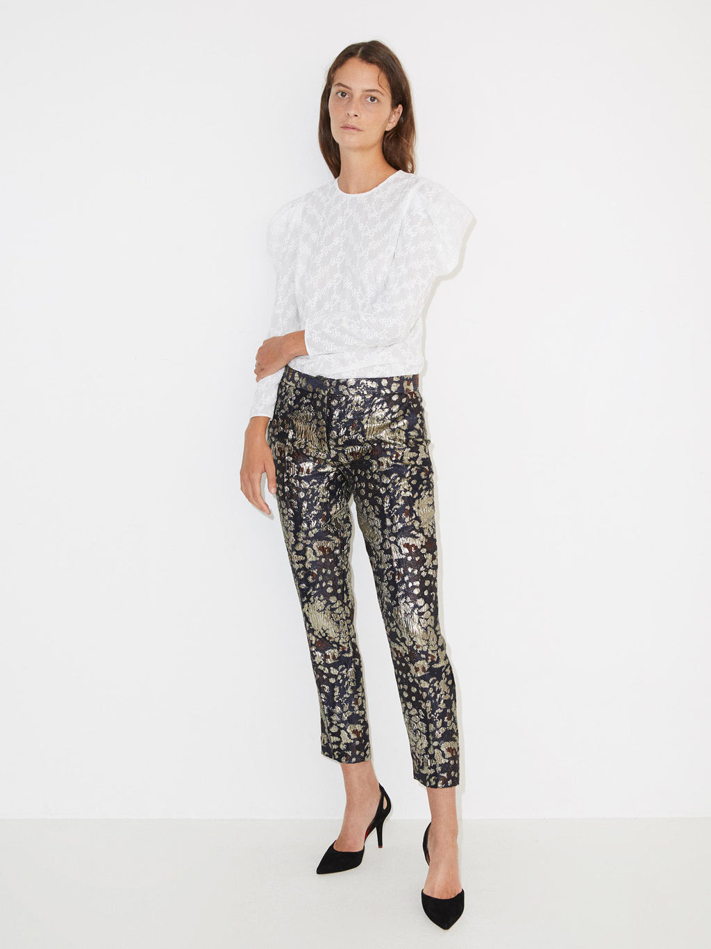 Santsi Metallic Foiled Trouser