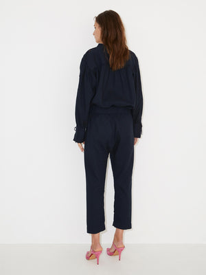 Cicer Textured Navy Pants