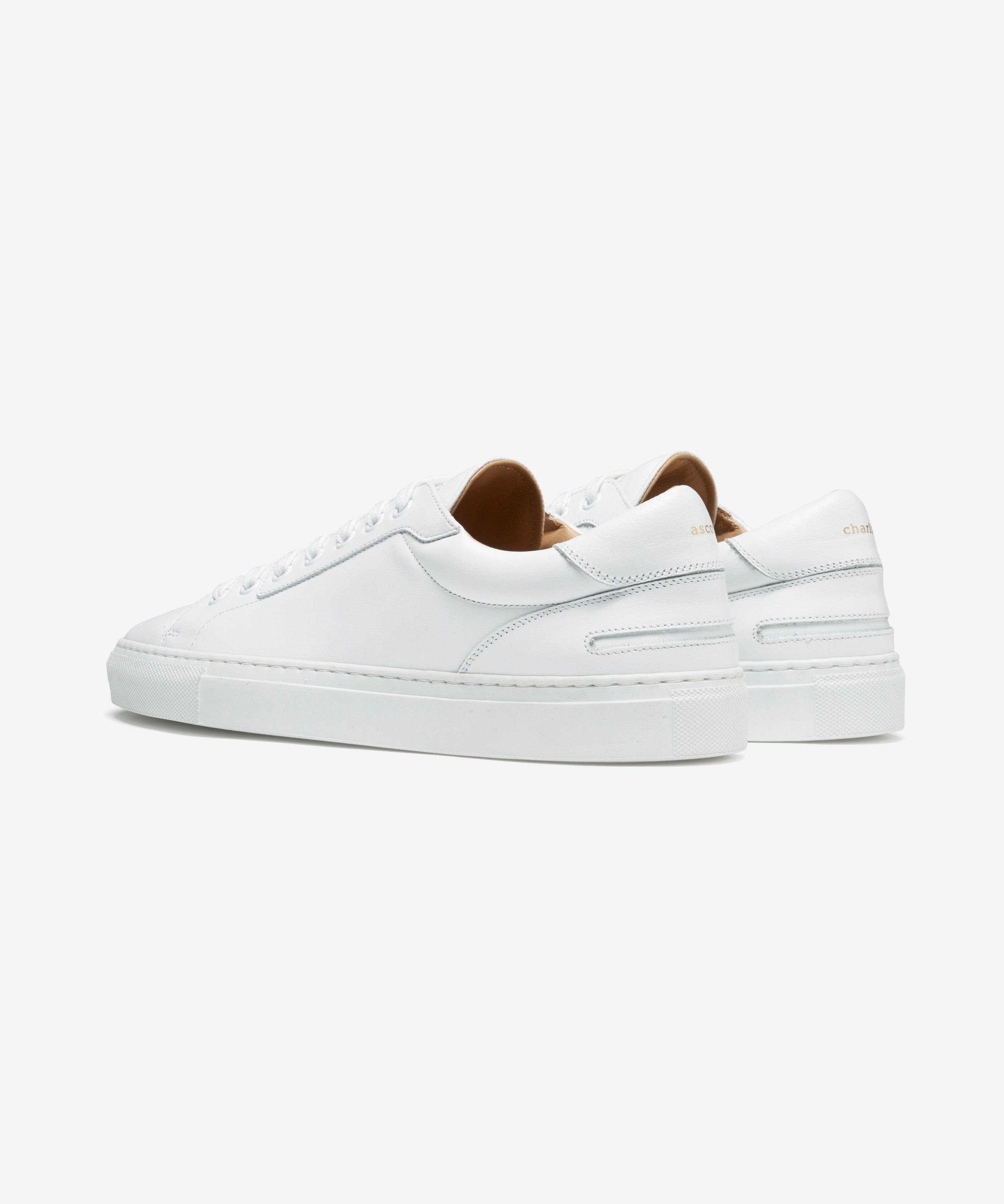 Lione White Leather Sneakers