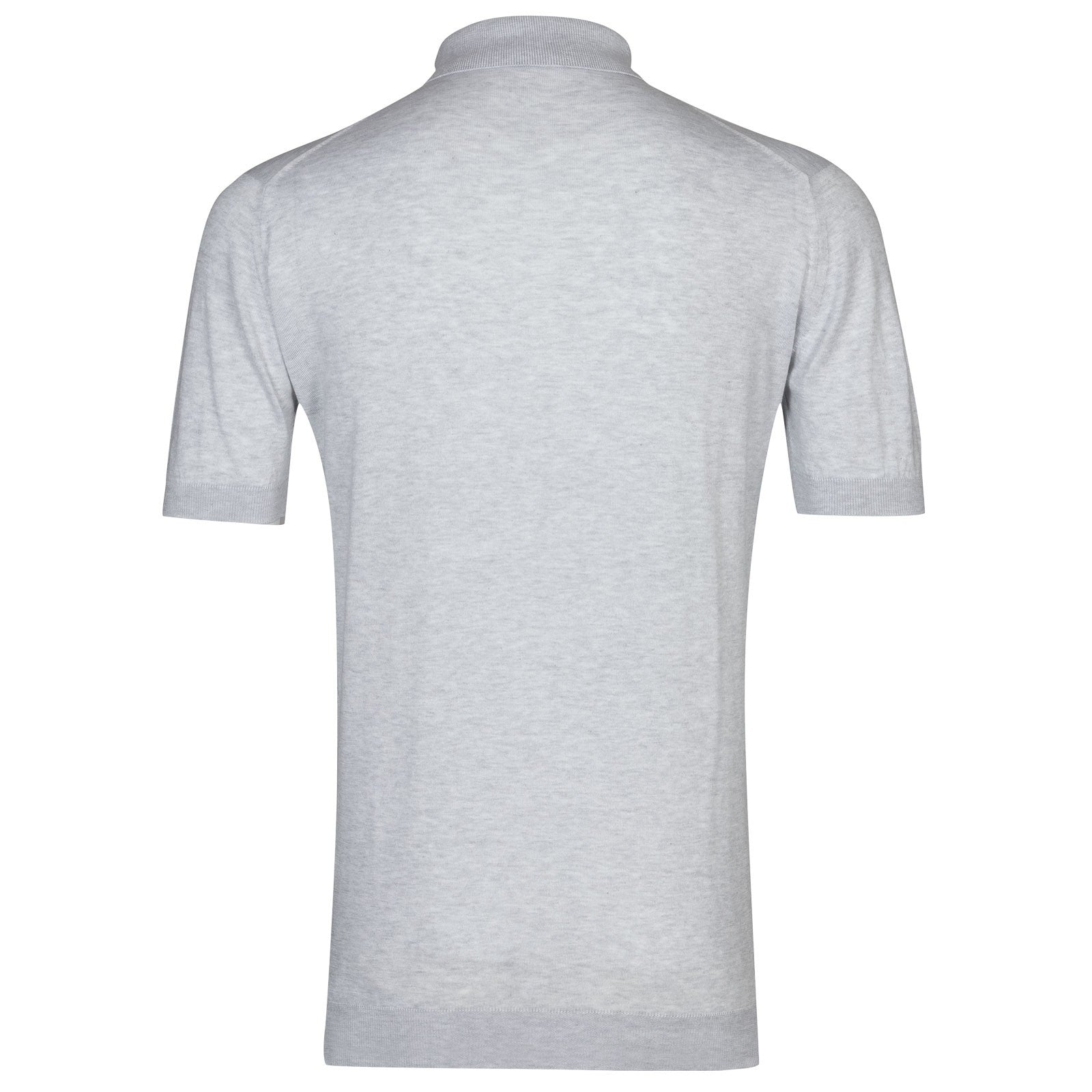 Adrian Feather Grey Sea Island Cotton Polo Shirt