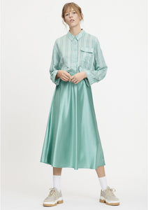 Alsop Green Satin Skirt