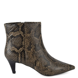 Cameron Snake Print Leather Boots