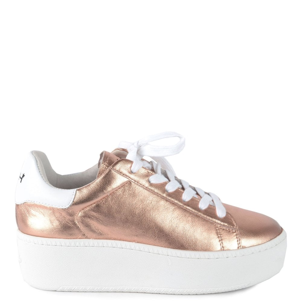 Cult Rose Gold Platform Sneaker