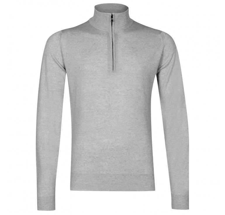 Barrow Bardot Grey Quarter Zip Pullover