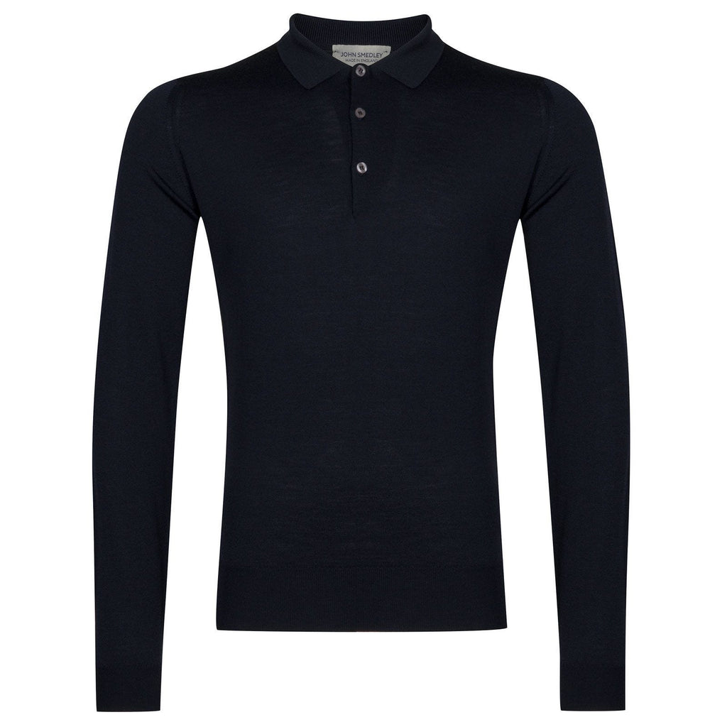 Belper Midnight Long Sleeve Polo