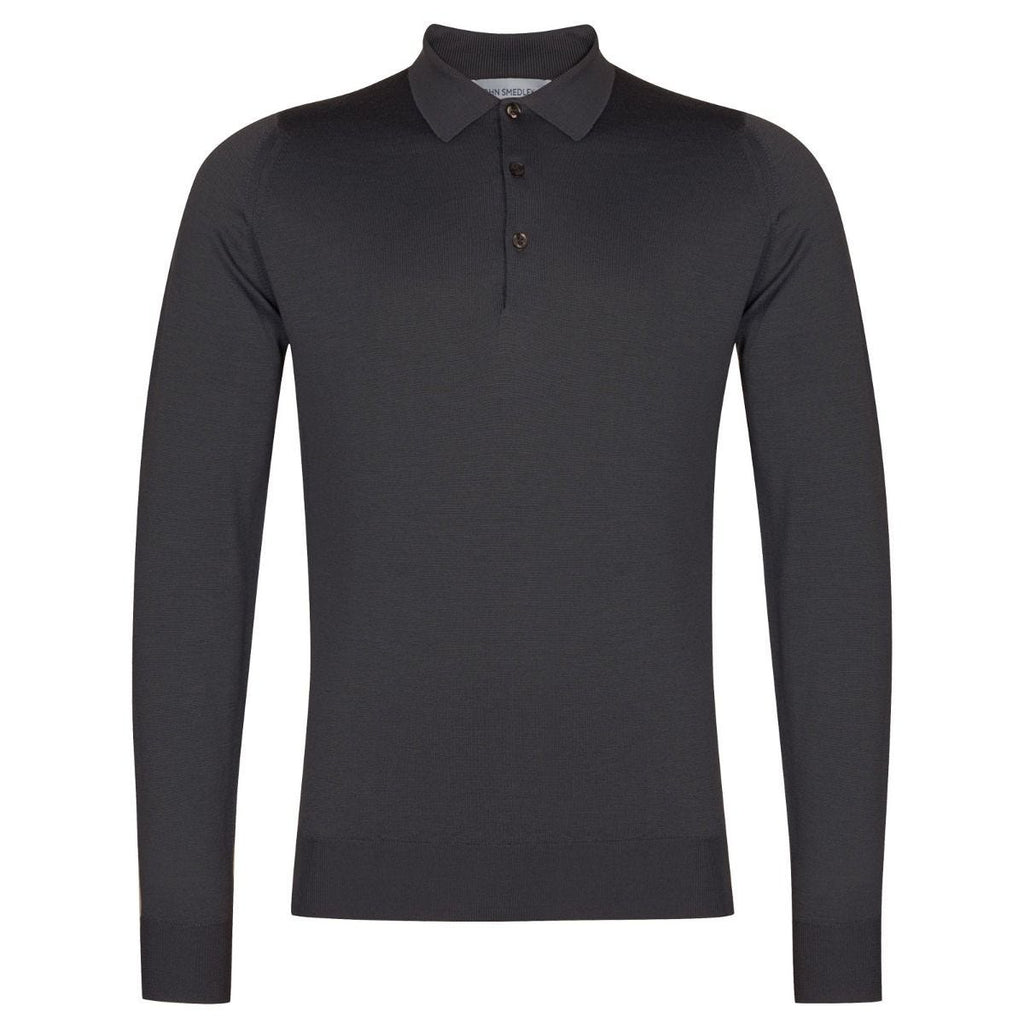 Belper Slate Grey Long Sleeve Polo