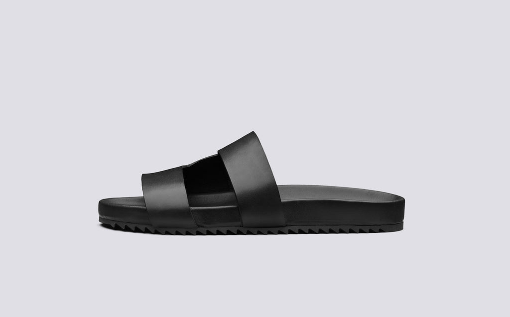 Chadwick Leather Sandal In Black