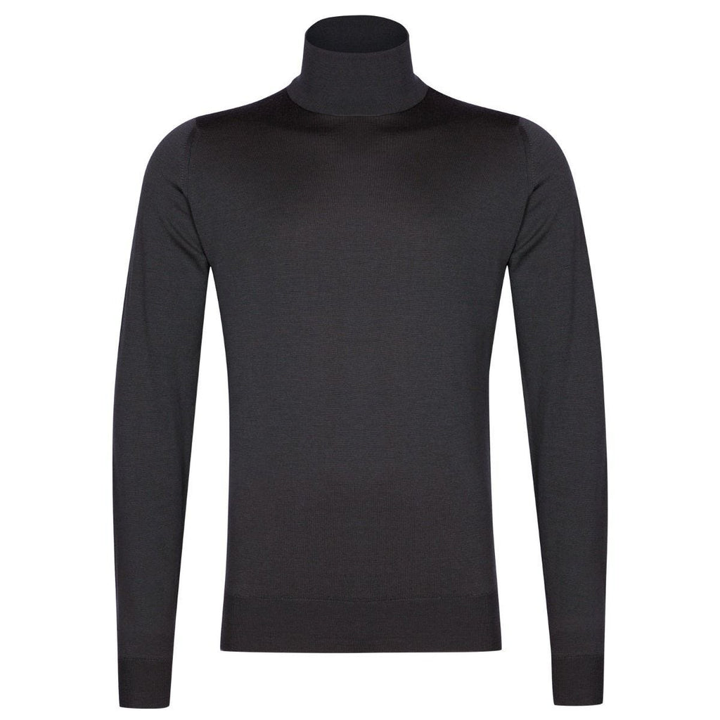 Cherwell Slate Grey Roll Neck Sweater