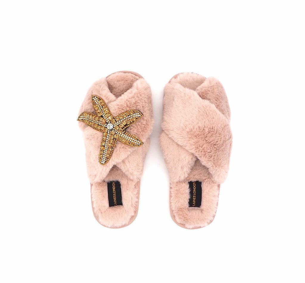 Starfish On Pink Slipper