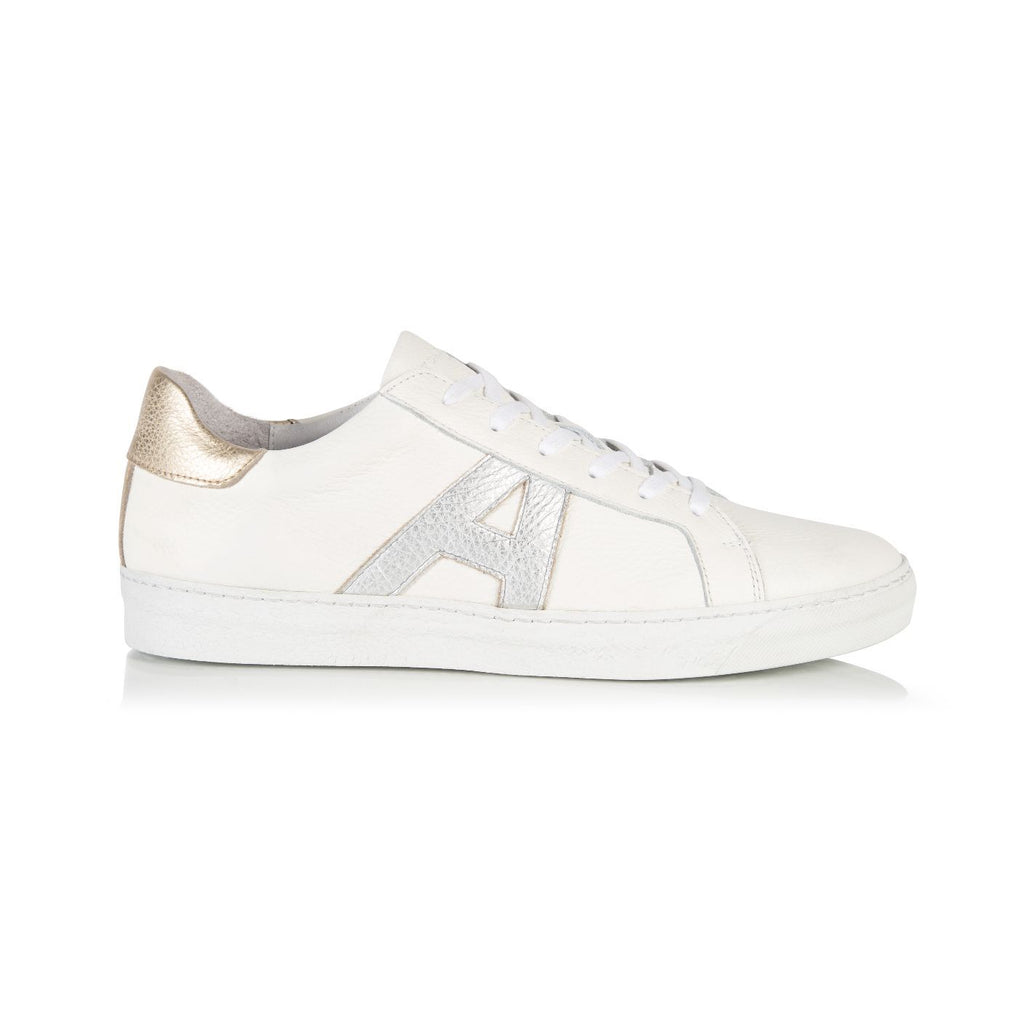 Cru Signature White, Silver & Gold Trainer
