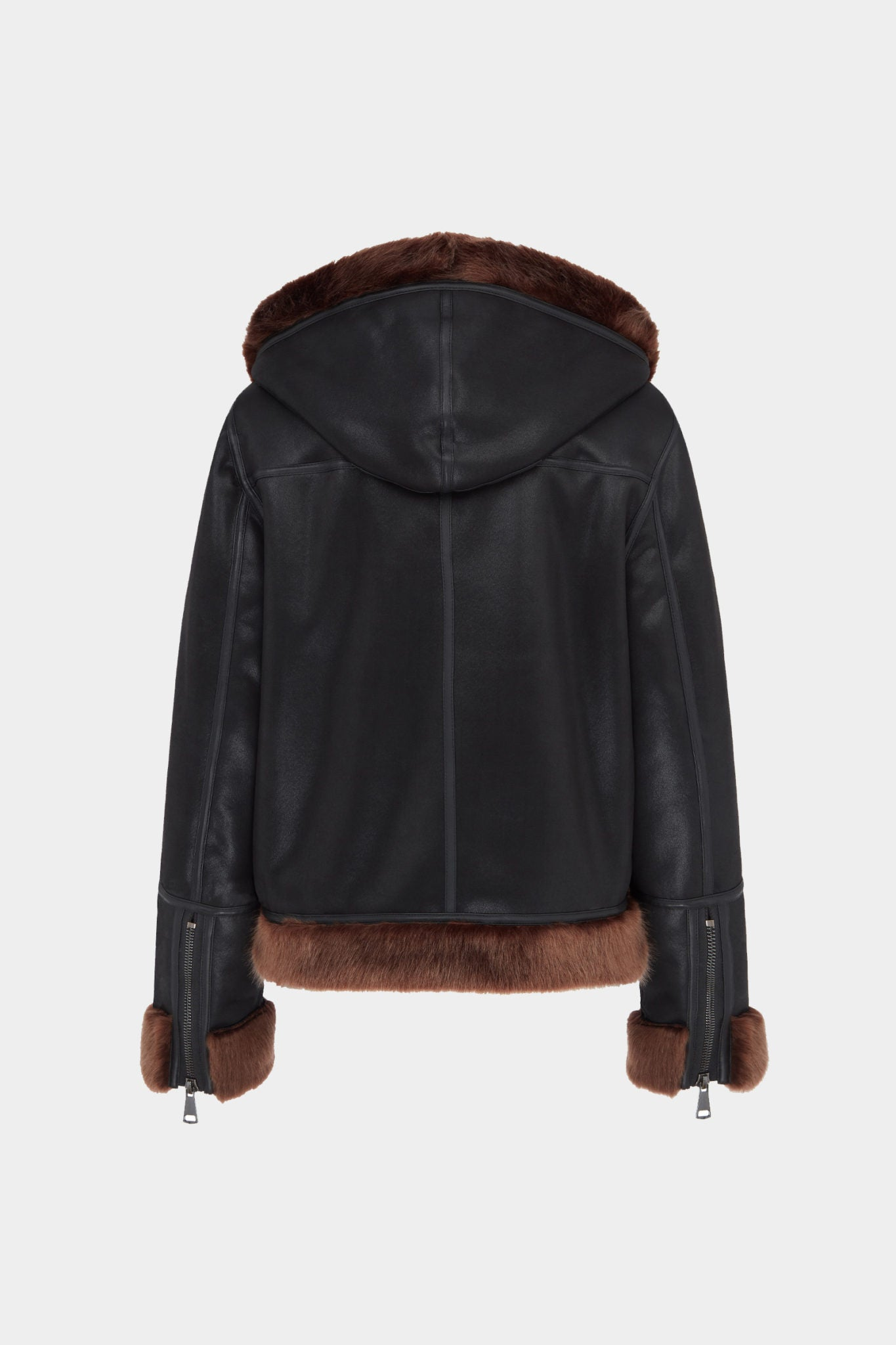 Black Reversible Hooded Aviator