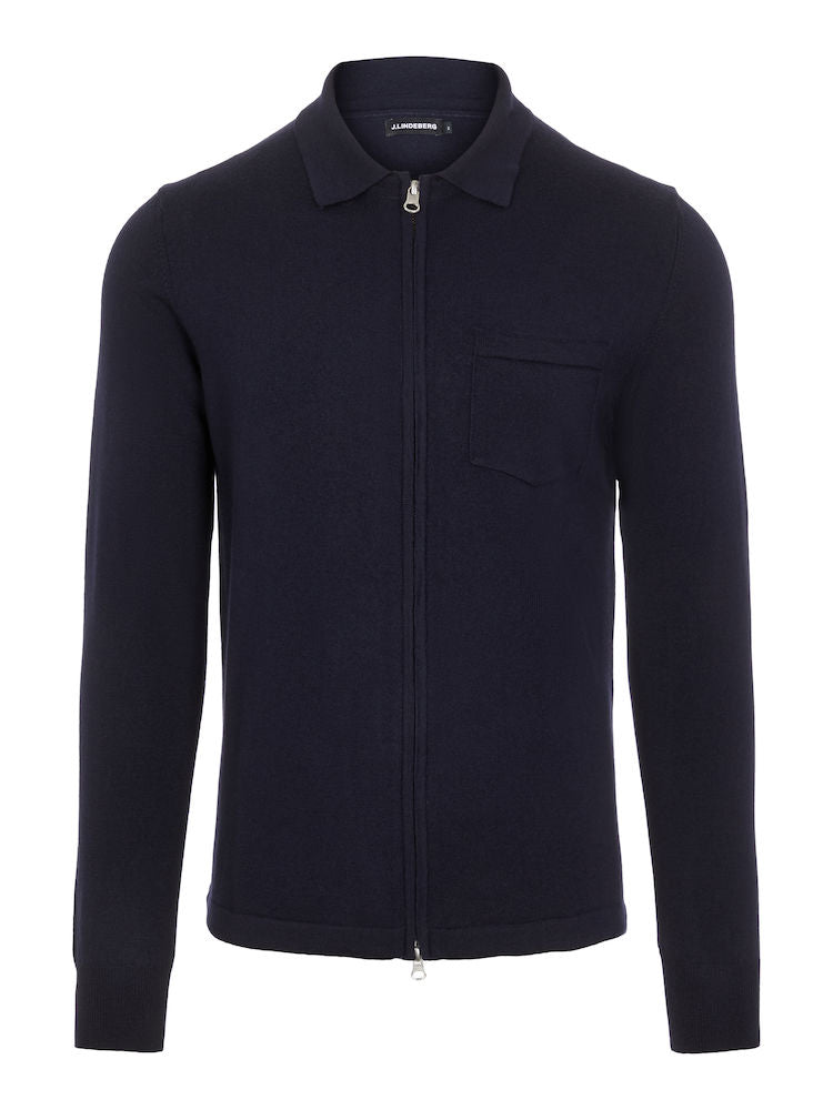 Nyle Navy Merino Zip Sweater