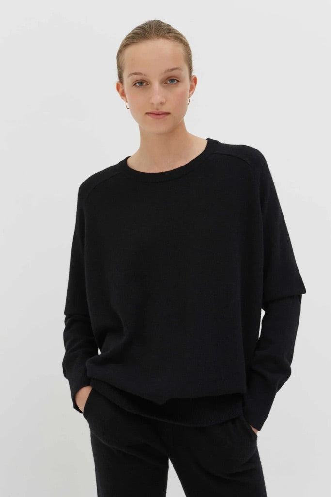Black Cashmere Slouchy Sweater