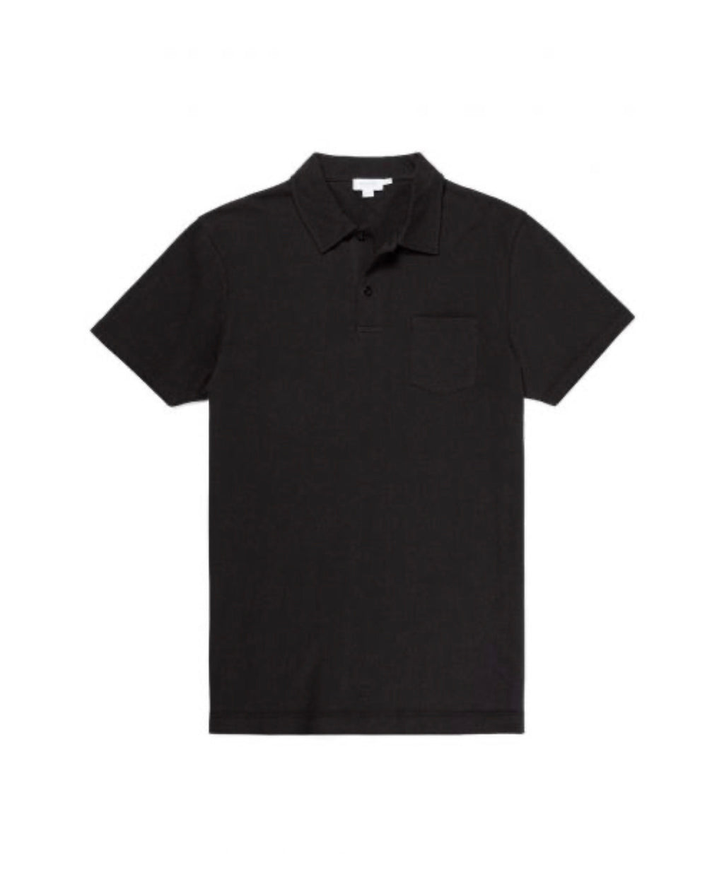 Black Cotton Riviera Polo Shirt
