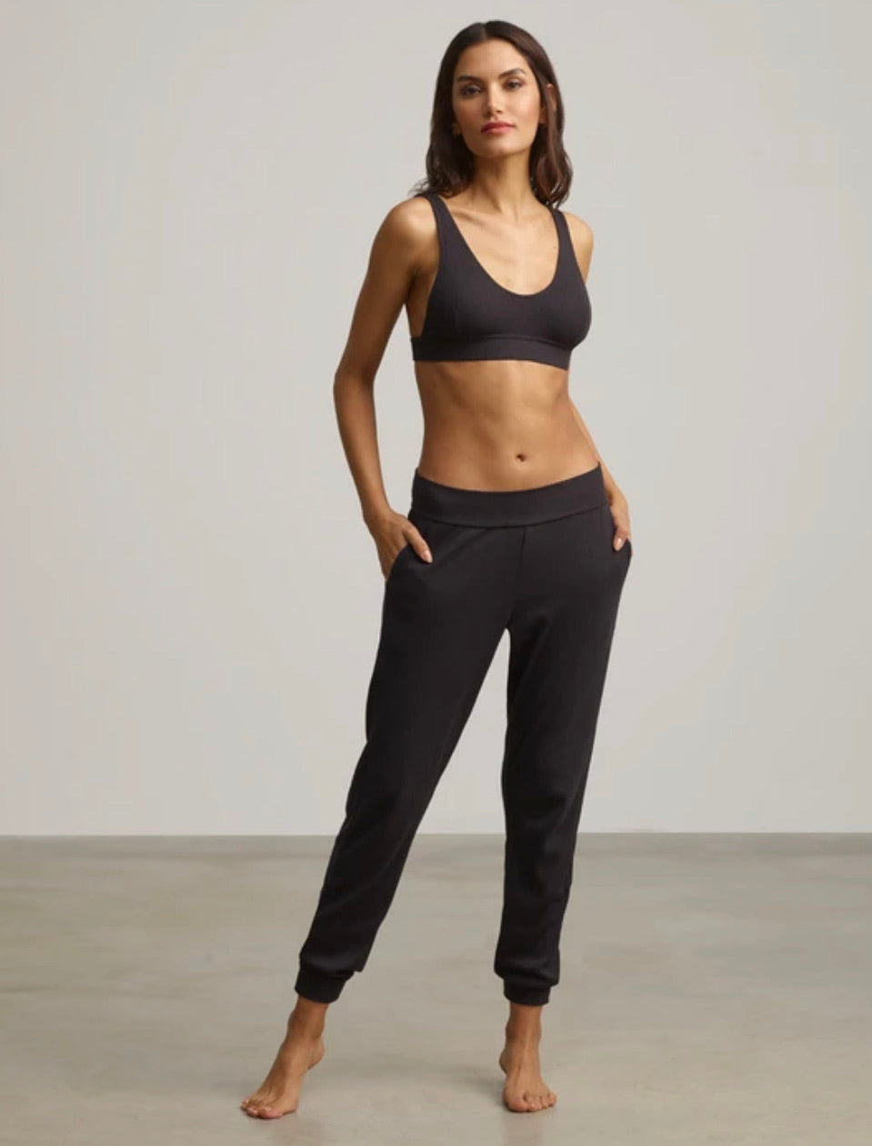 Luxury Ribbed Track Pant