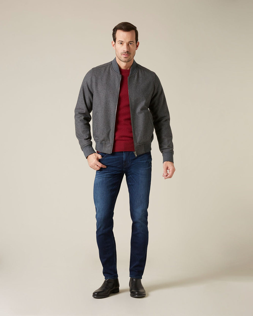 Slimmy Tapered Stretch Tek Dark Blue Jean