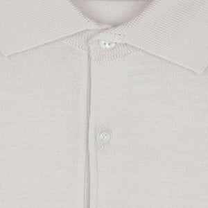 Payton Snow White Merino Polo Shirt