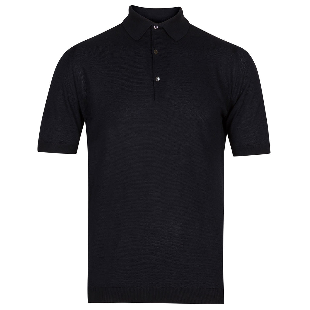 Roth Navy Piquet Polo Shirt
