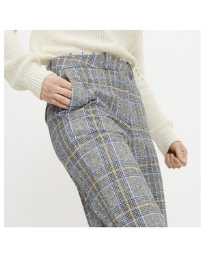 Perle Tailored Check Trousers