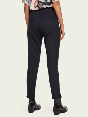 Tailored Navy Mid-Rise Stretch Trouser