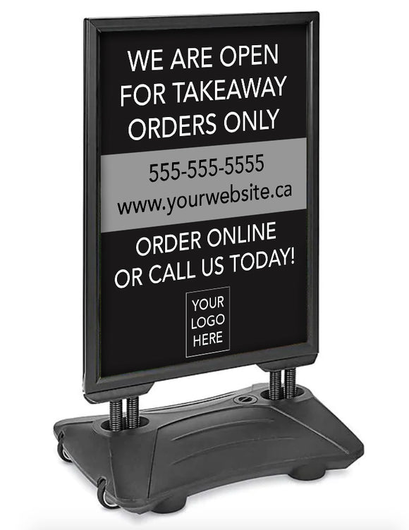 Open for Takeaway Orders - Weatherproof Sign - Customizable - stevensE3