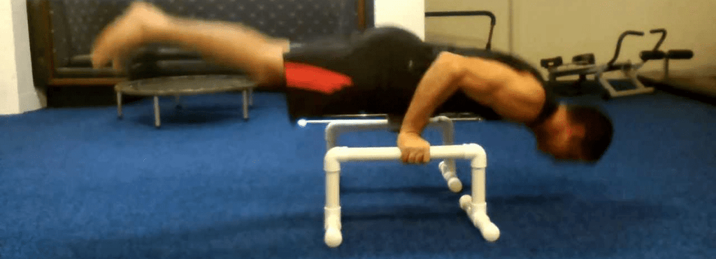 parallettes full planche push up
