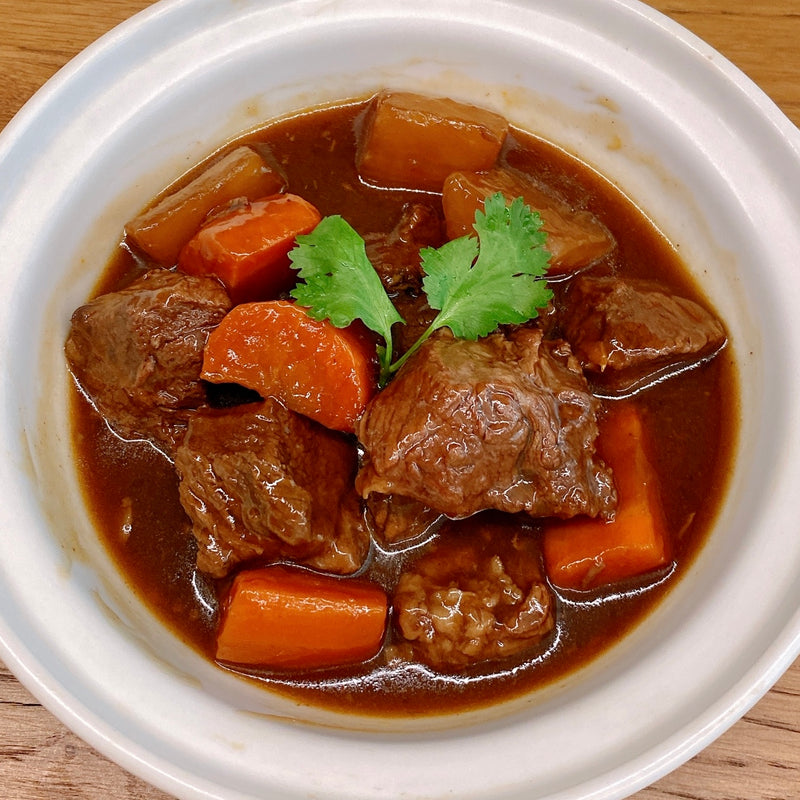 Braised Beef w/ Carrots and Raddish