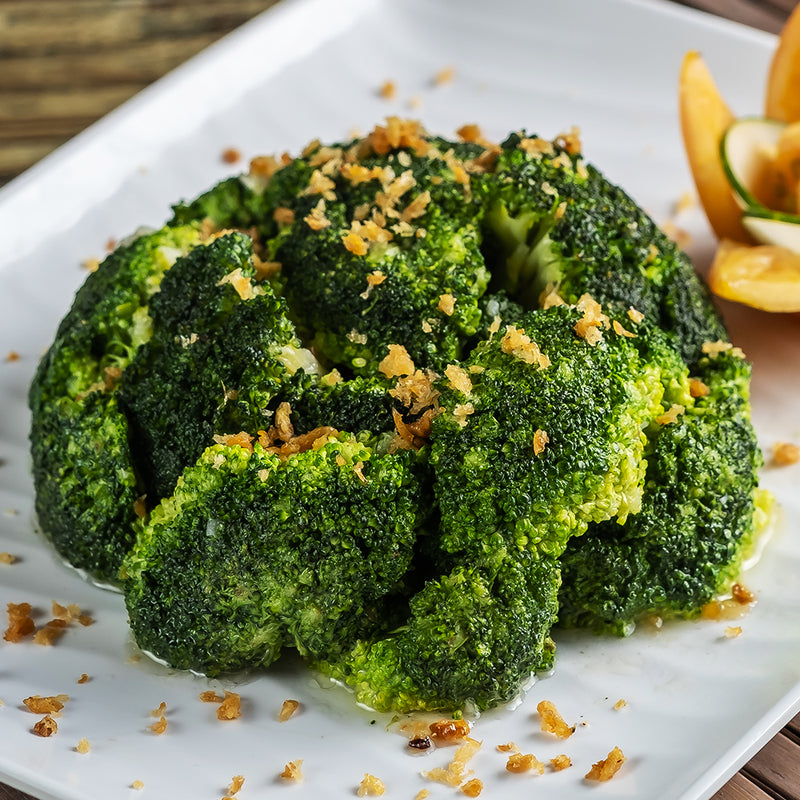 Steamed Broccoli With Garlic